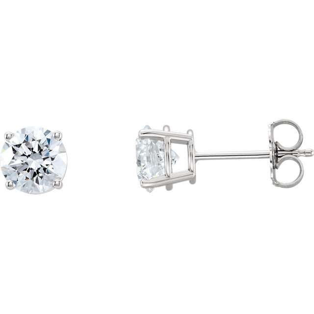 5a5b4ed72 Classic 4-prong diamond earrings - Malloves Jewelers
